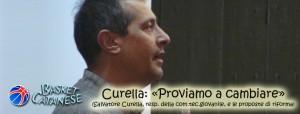 Salvo Curella in una vecchia copertina di Basket Catanese