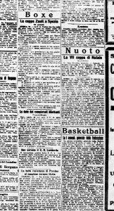 22.12.1921: un piccolo trafiletto dedicato al Basketball