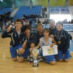 Genovesi, Di Gaetani, Di Piazza, Zafarana, Gullotti e Costantino, campioni regionali U13 del Join the Game (G. Di Piazza @ Facebook)