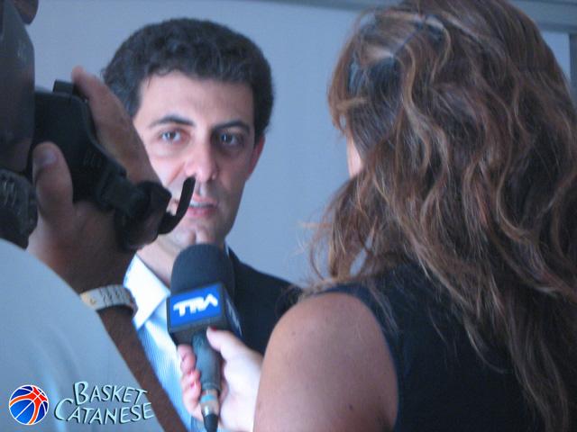 Nico Torrisi, presidente della Pol. Alfa e protagonista della conferenza stampa (Basket Catanese)