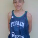 Giuliana Licciardello con la maglia della Nazionale (arch. Lazùr)