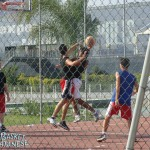 Un'azione durante una partita del girone junior (Basket Catanese)