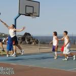 Dario Sortino tira contrastato da Eugenio Cavalli (Basket Catanese)