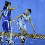 Hristina Hristova in azione contro Planet Basket
