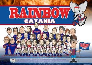 L'illustrazione di Valentino Villanova che raffigura la squadra della Rainbow 2012-2013