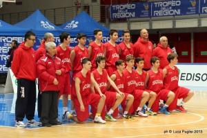 La Sicilia maschile al Trofeo delle Regioni, prima della gara contro la Liguria (foto Luca Puglisi)