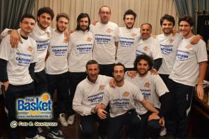 Parte della squadra che ha vinto la Serie D: tutti confermati (foto Roberto Quartarone)