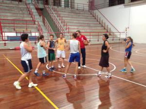 La Lazùr in allenamento al PalaGalermo