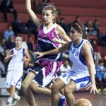 Giuliana Licciardello e Valentina Parisi durante il derby (foto Giuseppe Maugeri)
