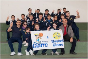 La squadra al gran completo (foto Centro TT Pall. Giarre)