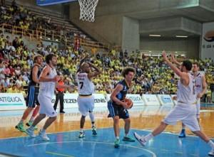 Marco Portannese durante gara-4 tra Verona e Orlandina (foto Orlandina Basket)