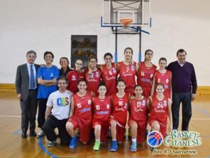 Giulia Patanè è la quarta giocatrice in piedi da sinistra (foto R. Quartarone)