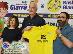 La presentazione di Borzì con l'assessore Bonaccorsi e il presidente Spada (foto R. Quartarone)