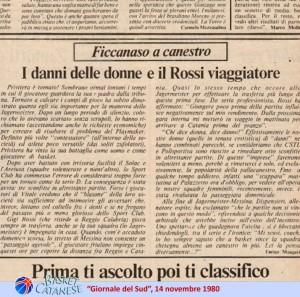 Una puntata della rubrica di Maugeri sul giornale di Pippo Fava