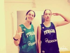 Giorgia Rimi e Giulia Patanè, le due siciliane al Trofeo Bam con la Nazionale Under-14 (foto G. Rimi)