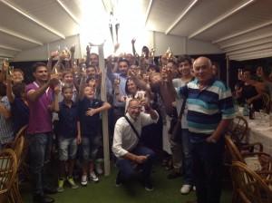 Foto di gruppo alla festa per il 25° anniversario dalla fondazione della Libertas Fiumefreddo