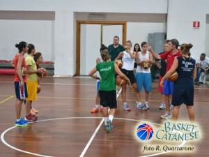 Il gruppo lazurino durante l'allenamento di venerdì, pre-amichevole (foto R. Quartarone)