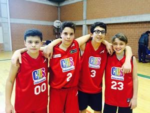 I campioni provinciali U13 del Join the Game: Guadalupi, Elia, Rapicavoli