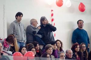 Natale De Fino parla con Mangano durante la partita (foto G. Lazzara)