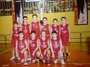 La formazione Under-13 dell'Olimpia Battiati