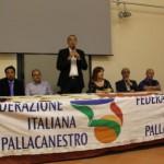 Il tavolo della festa di premiazione della FIP Catania