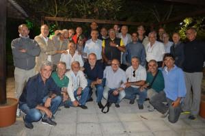 La foto di gruppo al termine della serata