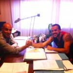 La firma del contratto: a Lo Nigro e Sortino basta una stretta di mano