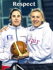 Marzia Ferlito e Deborah Bruni prima dell'ultimo derby (foto G. Lazzara)