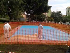 I lavori al playground di Vulcania