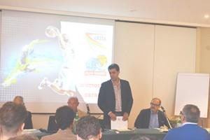 Il presidente Torrisi parla alla presentazione (foto U. Pioletti)