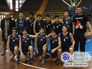 La formazione Under-15 del BC Zafferana durante la scorsa stagione (foto R. Quartarone)