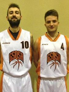 Fulvio Gambino e Ruggero Magrì in maglia GSQSA