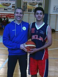 Carmelo Minnella e Giorgio Dore con la maglia della rappresentativa siciliana