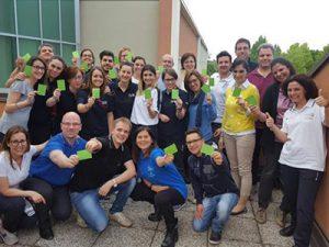 I partecipanti all'ultimo corso per istruttori di ufficiali di campo
