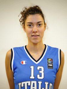 Alessandra Formica con la maglia della Nazionale