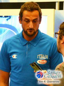 Marco Belinelli al raduno della Nazionale nell'estate 2015 (foto R. Quartarone)