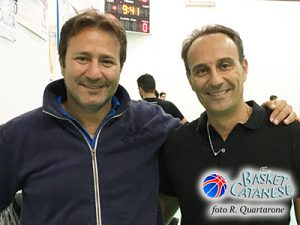 Massimo Di Gregorio e Peppe Marchesano prima dell'amichevole (foto R. Quartarone)