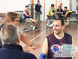 Di Piazza parla con Pappalardo, di spalle l'allenatore della Nazionale (foto R. Quartarone)