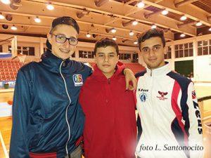 Bruno Longo, Giorgio Guadalupi, Gabriele Signorino (foto L. Santonocito)