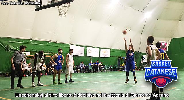 Unechenskyi show, Giarre domina ad Adrano - Basket Catanese